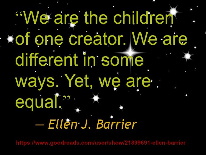 Ellen J. Barrier - We are the children of one creator